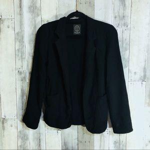 Aritzia talula sz 2 open front black blazer